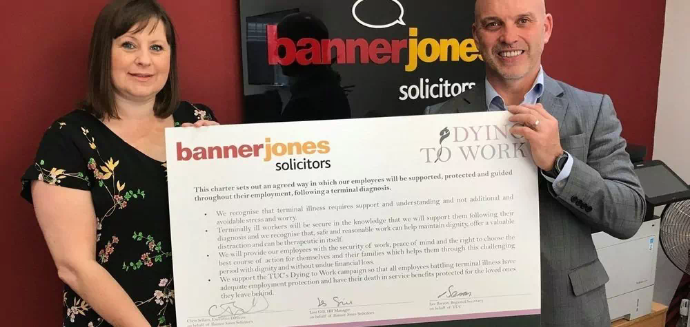 Banner Jones signs up to support terminally ill workers