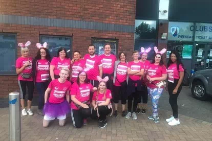 Banner Jones raises £500 through Sparkle Walk for Ashgate Hospice