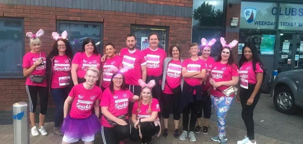 Banner Jones raises £500 through Sparkle Walk for Ashgate Hospice