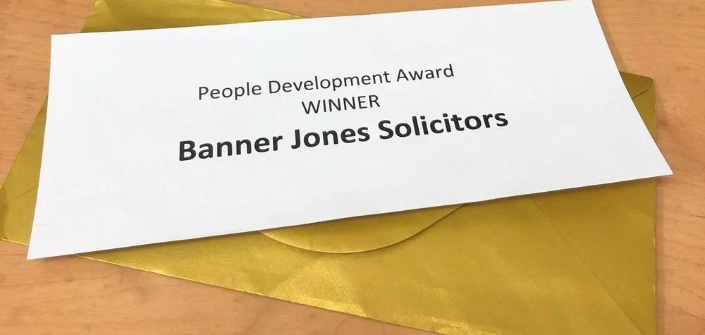 Banner Jones Solicitors recognised for commitment to staff development